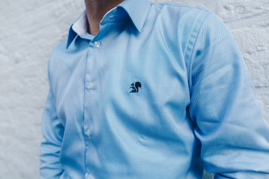 Details of a Blue shirt
